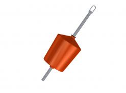 Flytboj 100 L 54 mm med ten
