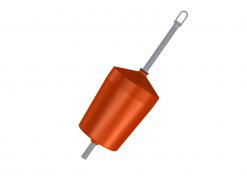 Flytboj 120 L 54 mm med ten