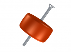 Flytboj 350 L 88 mm med ten