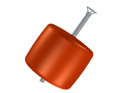 Flytboj 520 L 88 mm med ten